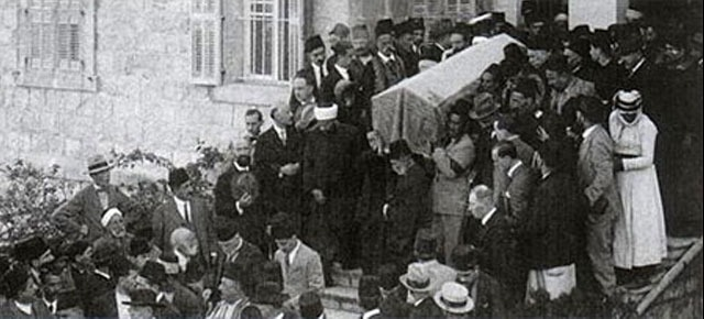 Sprovod 'Abdu'l-Baháa u Haifi, studeni 1921.