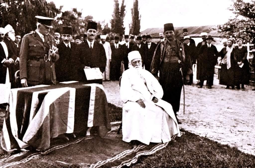Svečanost dodjele titule viteza, 27. travnja 1920. u Haifi, Palestina